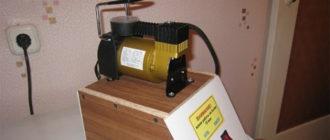 Компрессор воздушный электрический 220в бытовой компактный